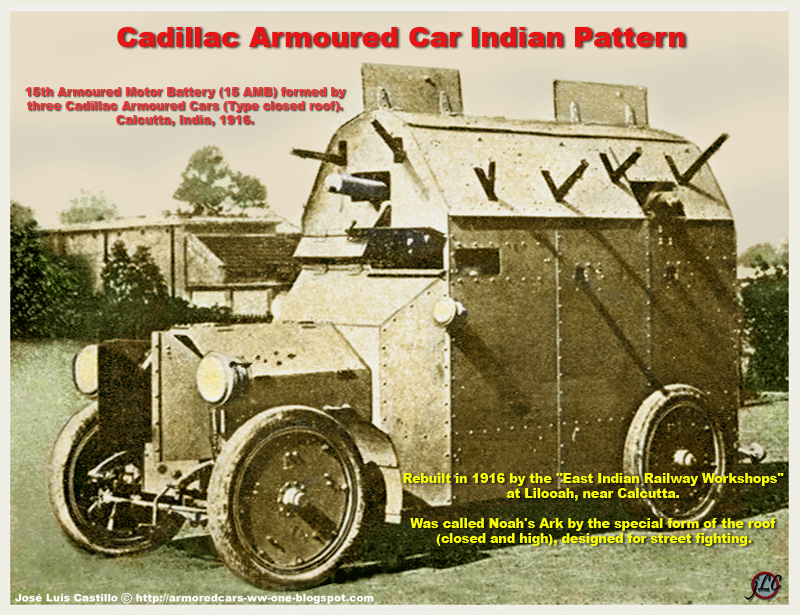 Armored Cars In The Wwi Cadillac Armoured Car Indian Pattern