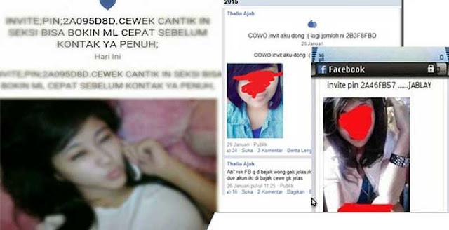 Berbahaya! Jangan invite PIN BBM cewek seksi di Facebook
