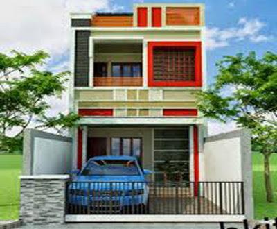 contoh bentuk rumah 2 lantai minimalis keren