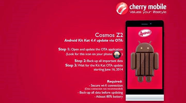 Cherry Mobile Cosmos Z2 - Android 4.4 KitKat