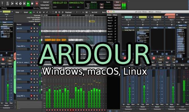 ardour δωρεάν πρόγραμμα ηχογράφησης και μίξης ήχου