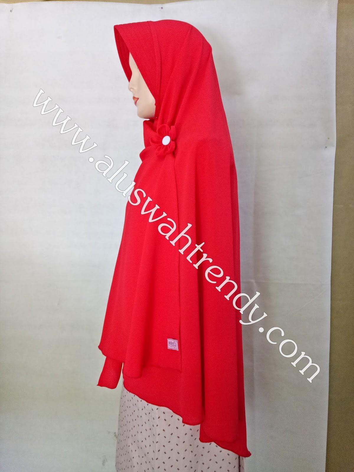 Jilbab Khimar Instan Warna Merah 25