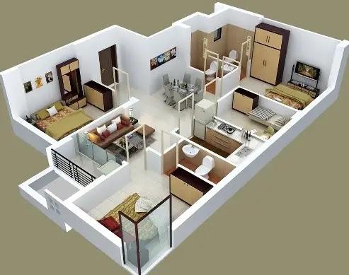 Kamar Tidur Type 36 Dengan Konsep Open Space