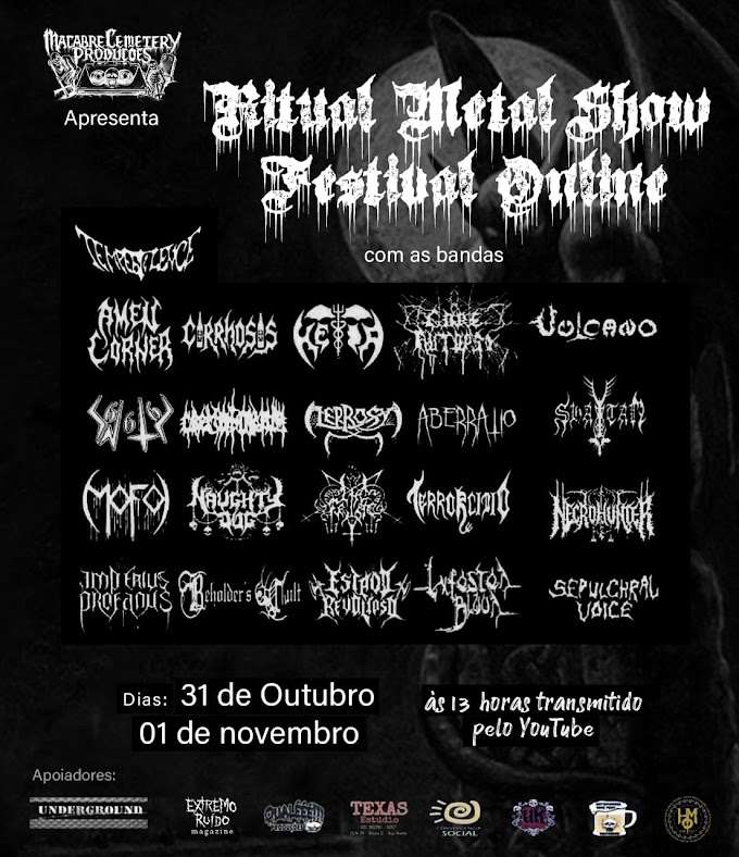 Conheça as bandas: Ritual Metal Show Festival Online