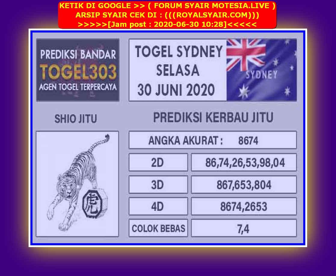 Kode syair Sydney Selasa 30 Juni 2020 119