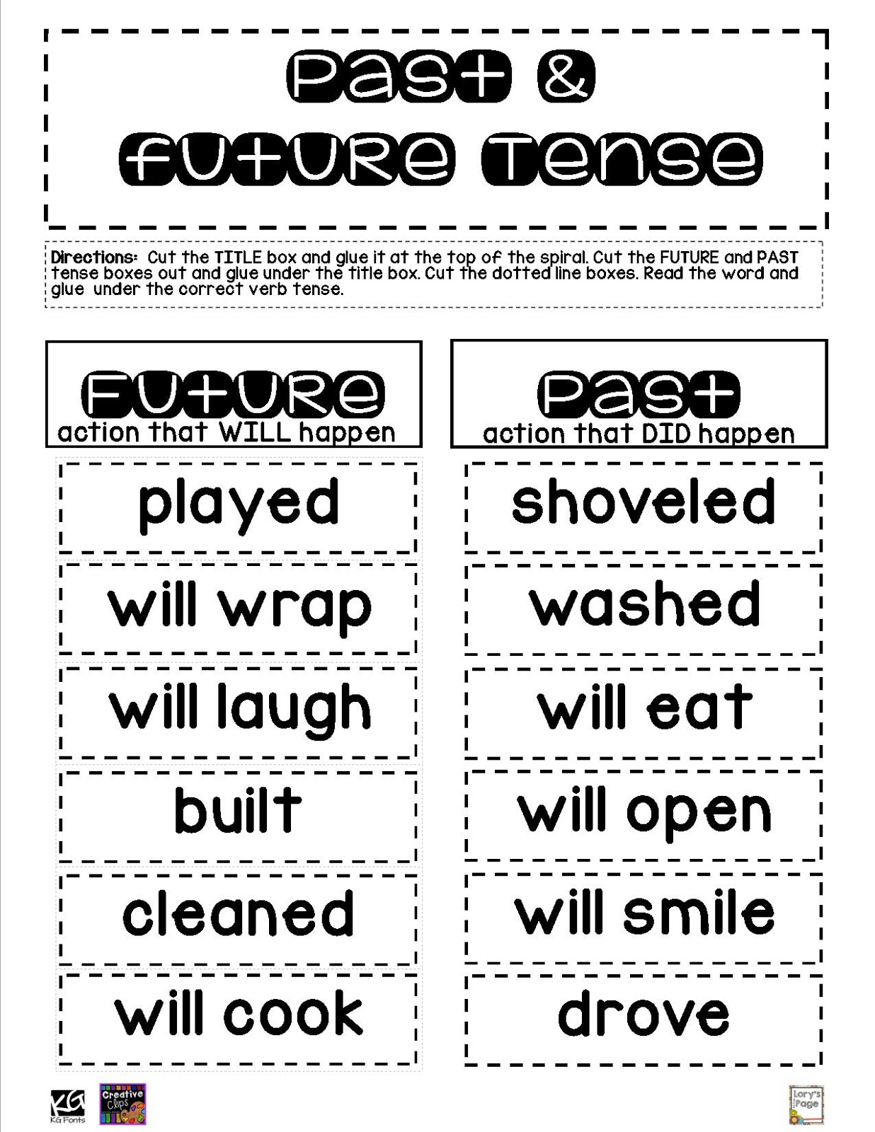 Lory S 2nd Grade Skills Past Present Future Freebie