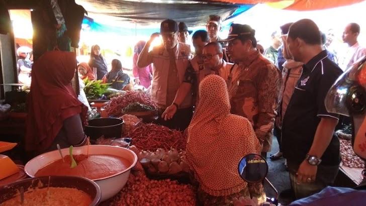 Jelang Idul Fitri, Pemkot & Satgas Pangan Provinsi cek Pasar.