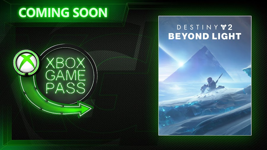 xbox game pass destiny 2 beyond light dlc expansion bungie november 2020 free to play online multiplayer first person shooter game xb1 x1 xsx