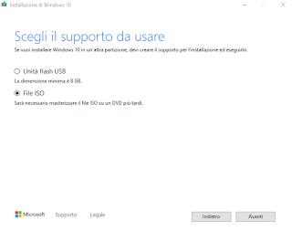 MCT - Selezione supporto installazione
