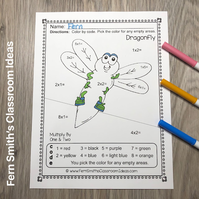 FREE Click Here to Download Spring Color By Number Multiplication Big Bug Fun Worksheet and Answer Key!