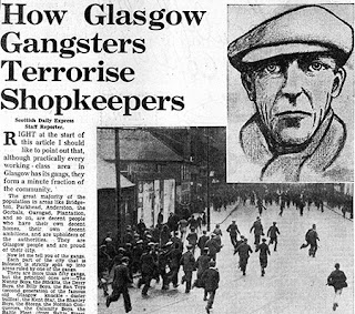 Las pandillas callejeras de Glasgow en los periódicos