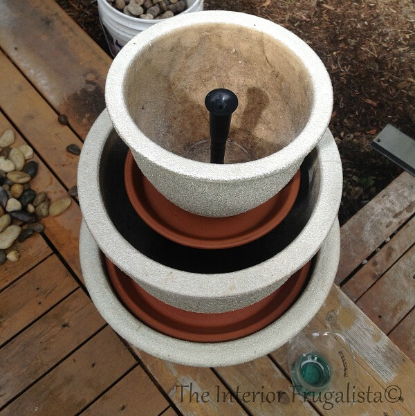 DIY Plant Pot Water Fountain Step 8