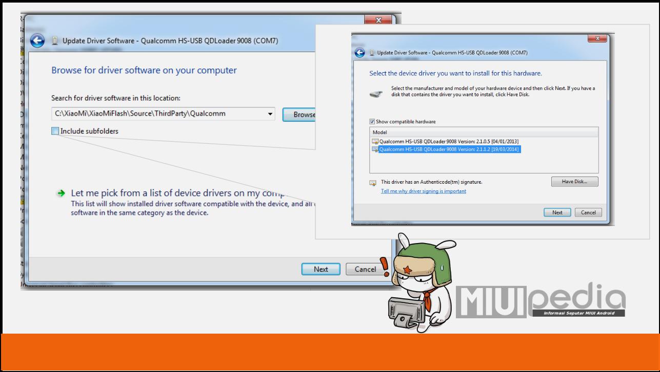 tahapan mengatasi driver XIOMI tidak terdeteksi COMXX