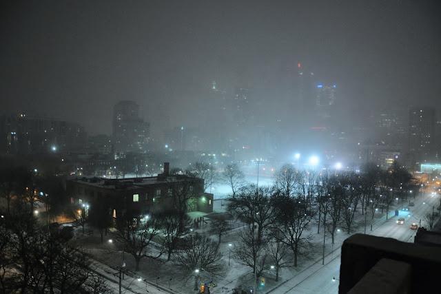 Snowstorm at Toronto, Ontario, Canada