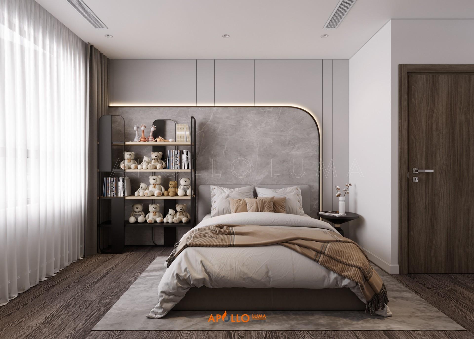 Thiết kế nội thất căn 3PN (106m2) Vinhomes Smart City Tây Mỗ