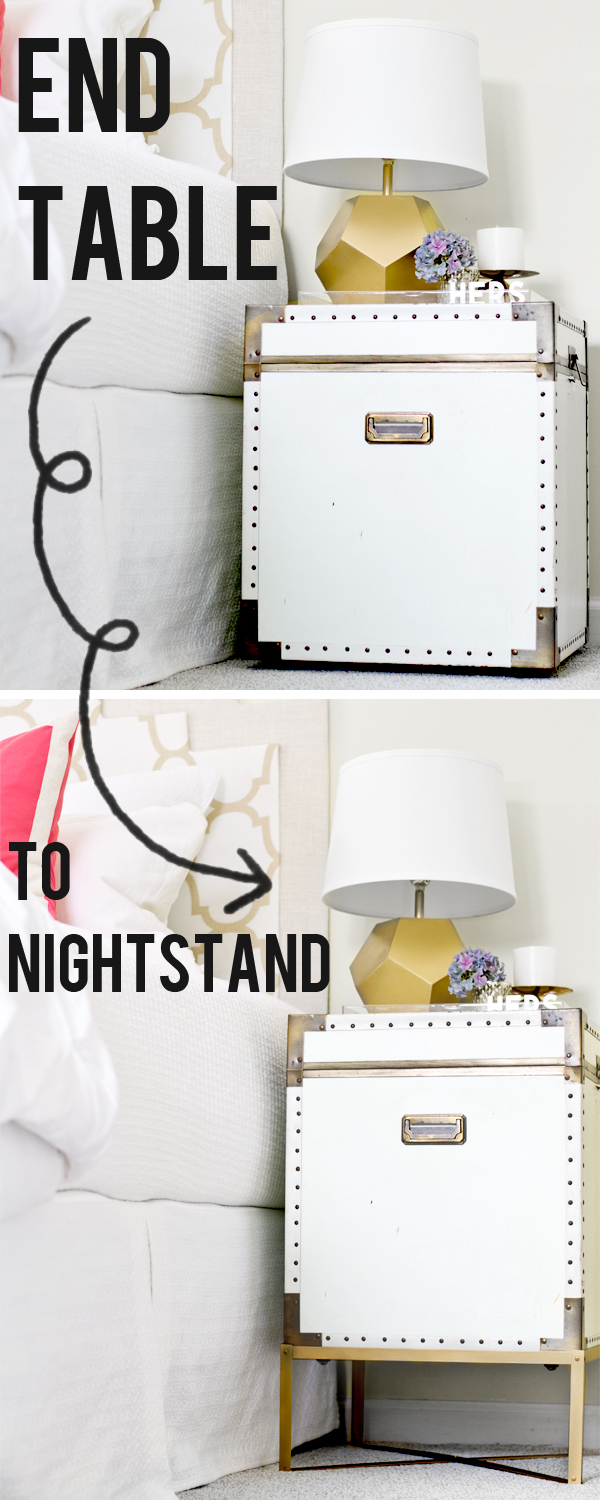 Sarah M Dorsey Designs End Table To Nightstand Pottery