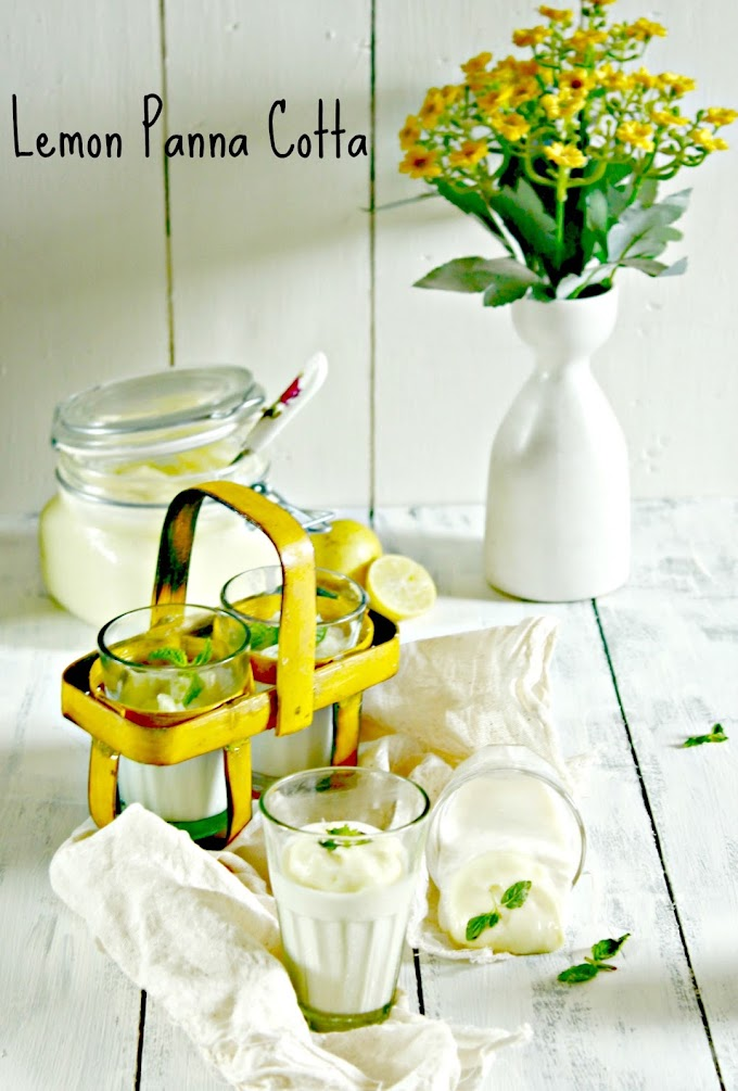 Dessert | Lemon Panna Cotta with Vegan Lemon Curd