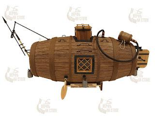 Modello completo del sottomarino Nikonov di legno in scala 1:35