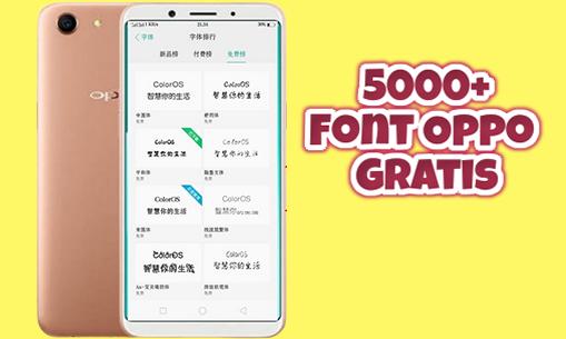 5000+ Font Oppo .ttf Untuk Oppo A5S, A12, A3S, F9, F7, A83, A71 dan Seri Oppo Lainnya