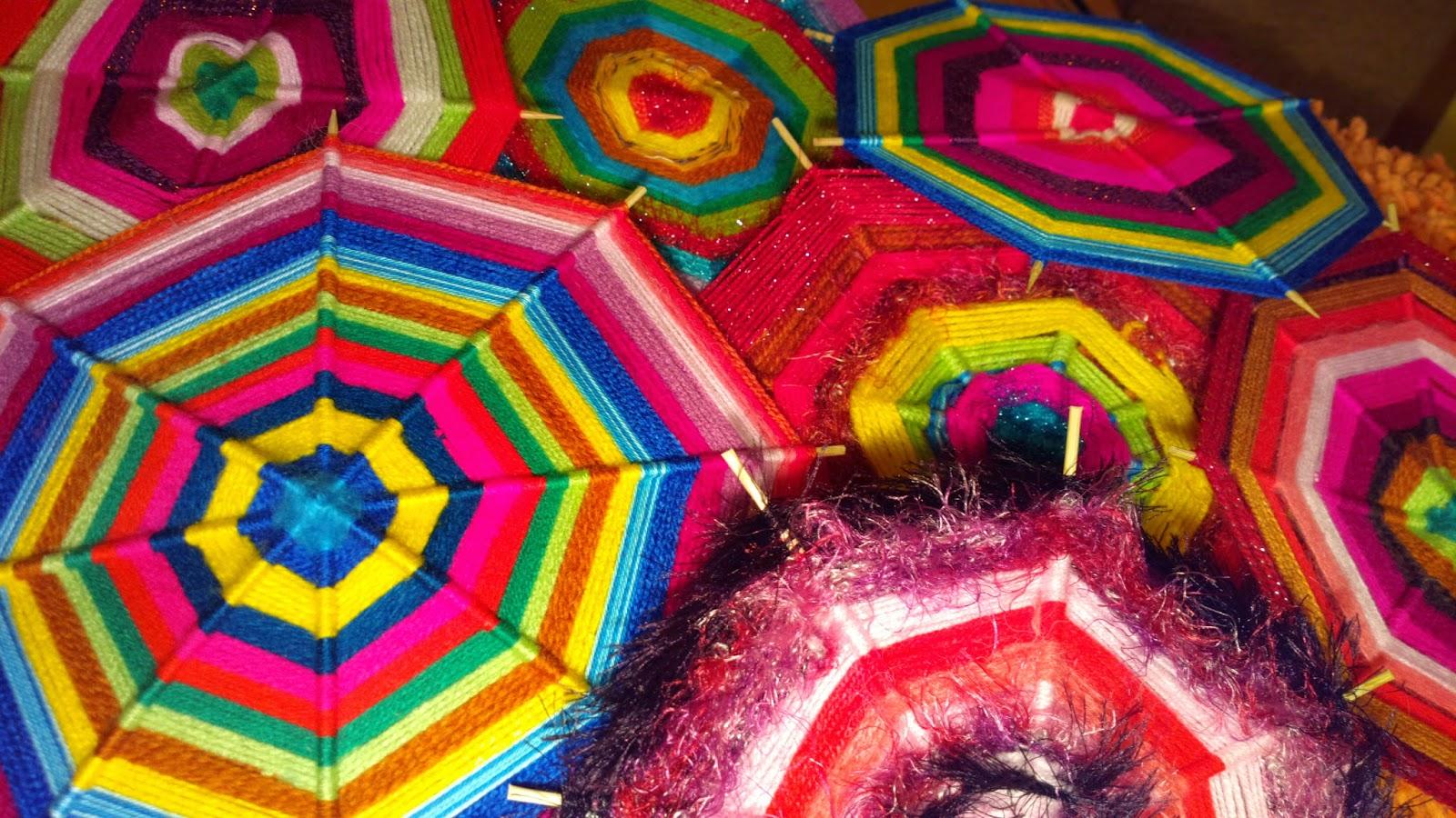 Kolorowe mandale z włóczki