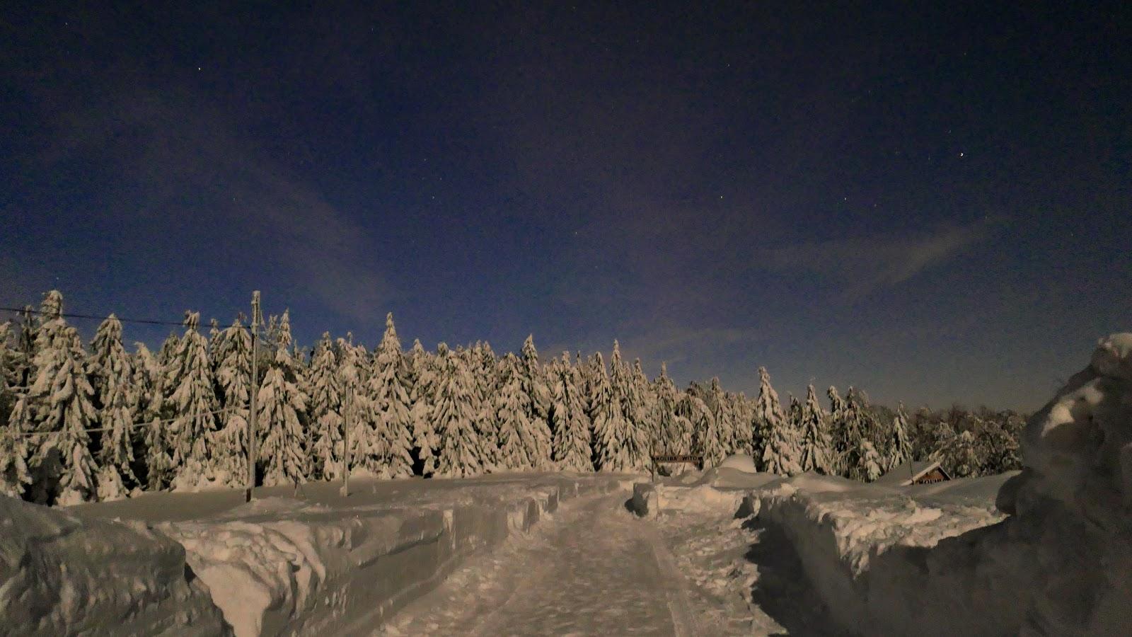 ustroń, zima, czantoria, szlak turystyczny, góry zimą