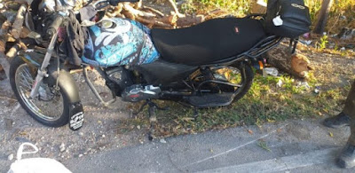 Una raso y un motorista fueron impactados por una yipeta
