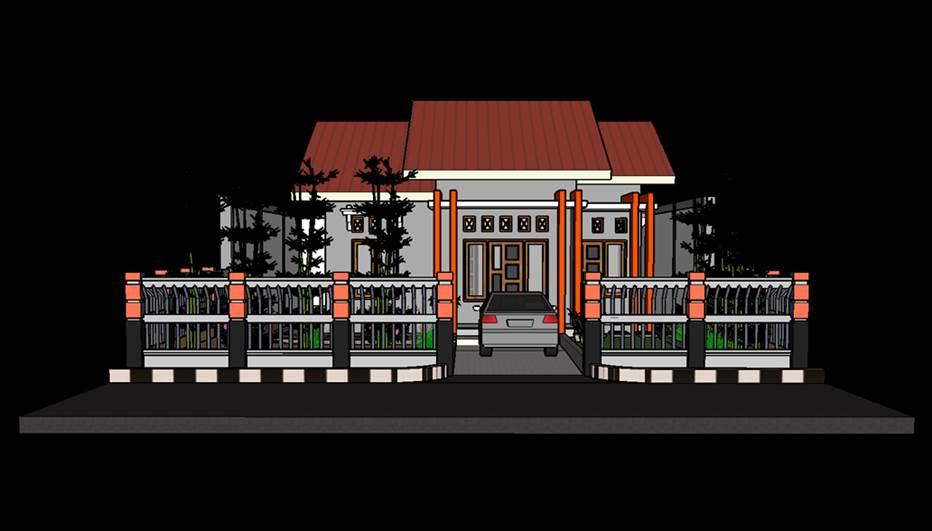 Desain Gambar Rumah 3 Trap Teras Minimalis Keren 3d Pandbis