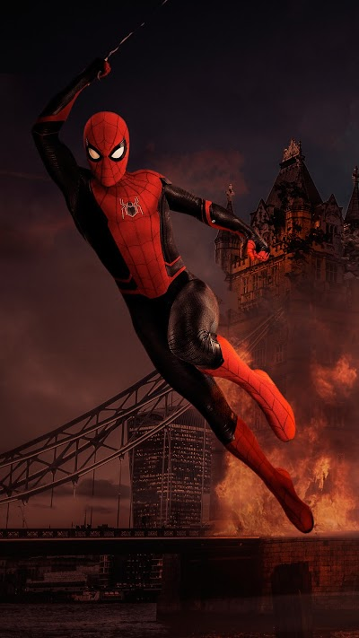 Spider-man Mobile Wallpaper form the Movie far from Home