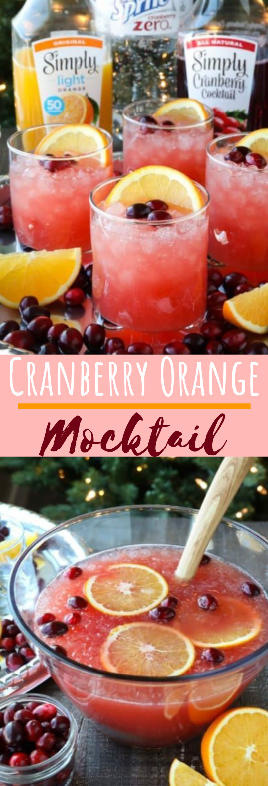 Cranberry Orange Mocktail #drinks #cocktails
