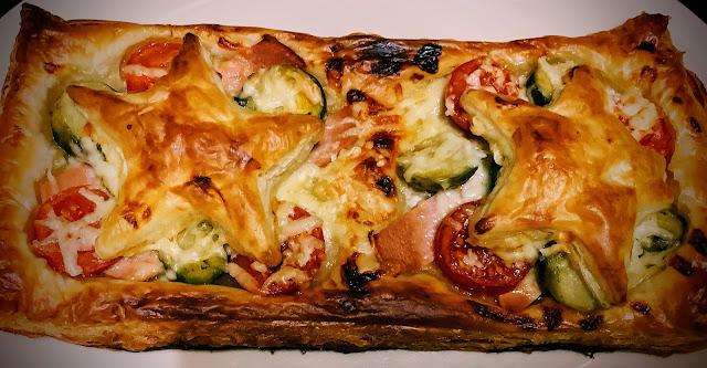 Vegetarian puff pastry tart