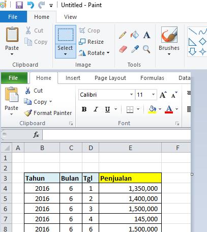 Belajar Microsoft Excel: Konversi Excel Menjadi Image atau Gambar.
