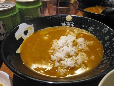 Ramen Keisuke Tonkotsu King Four Seasons, ise ebi ramen broth rice