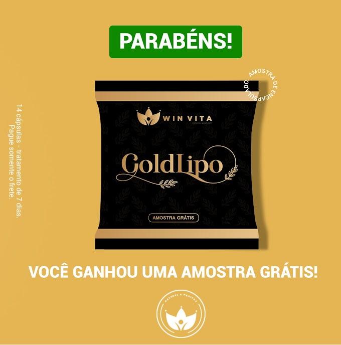 AMOSTRA GRÁTIS GOLD LIPO EMAGRECEDOR
