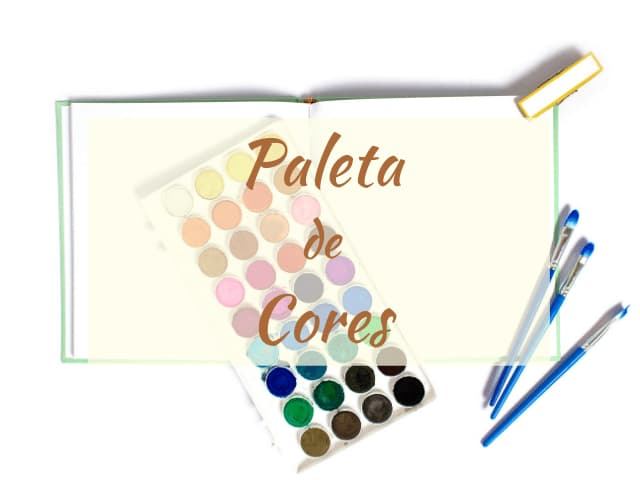 paleta de cores e background