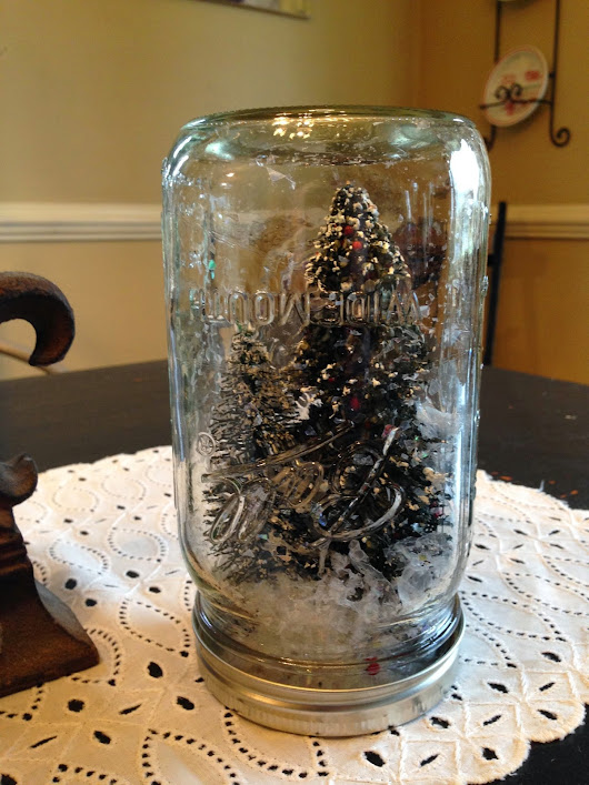 Ball Jars and Snowy Trees
