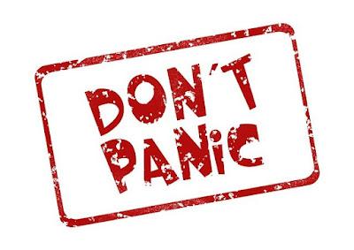 Don t panic-stampila rosie