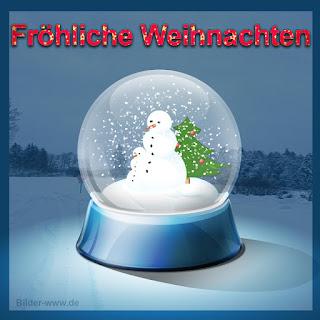 Fröhliche Weihnachten - Weihnachtsbilder Snowglobe