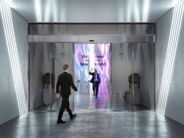 LG Technology - Transparent OLED Automatic Doors