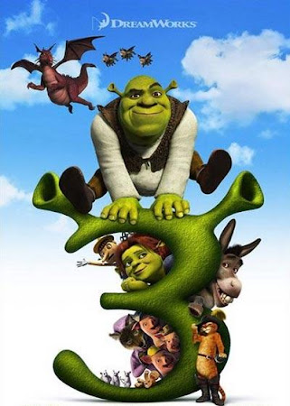 Poster Of Shrek the Third In Dual Audio Hindi English 300MB Compressed Small Size Pc Movie Free Download Only At worldfree4u.com