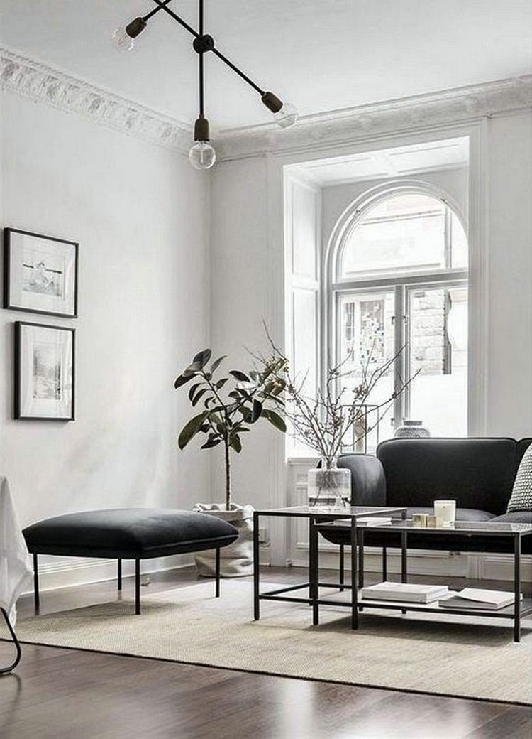 6 ideas to decorate a black and white themed living room