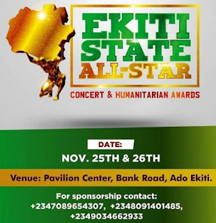 ekiti state all star concert humanitarian awards