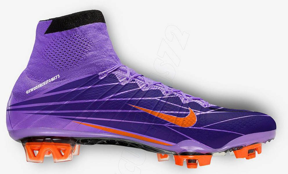 7c7da2840 ... Boasting the trademark design of the Nike Mercurial Superfly  Violet  Pop  Cleats