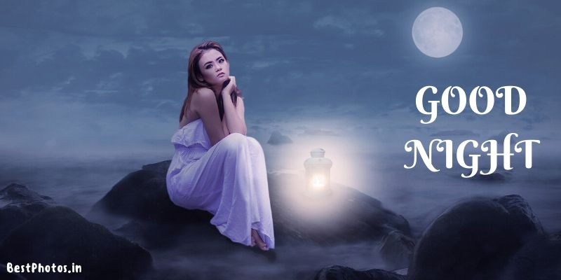 good night image for girl