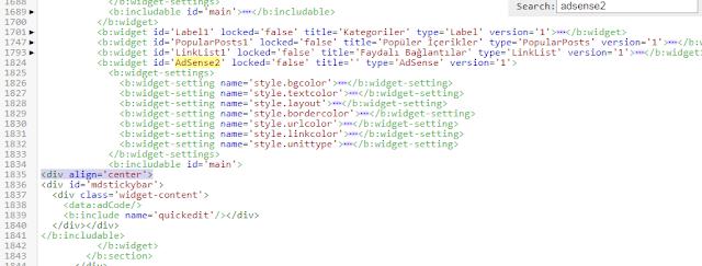 AdSense widget code