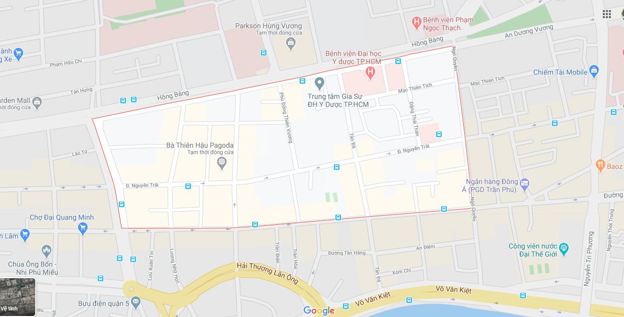 Bán nhà Mặt tiền đường Trần Hưng Đạo Quận 5. DT 4,55x19m