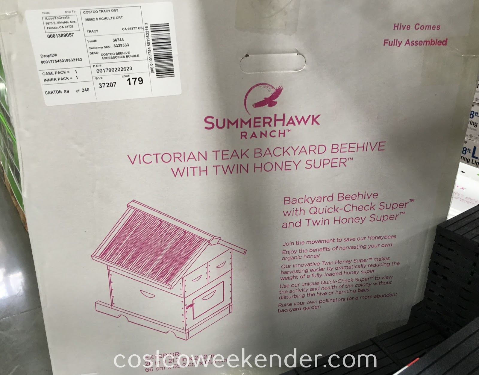 SummerHawk Ranch Victorian Teak Backyard Beehive with Twin Honey Super: great if you're looking for a new hobby