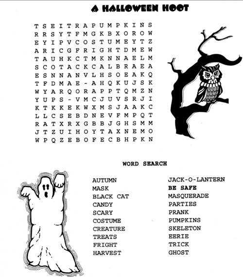 6 Medium Halloween Word Searches