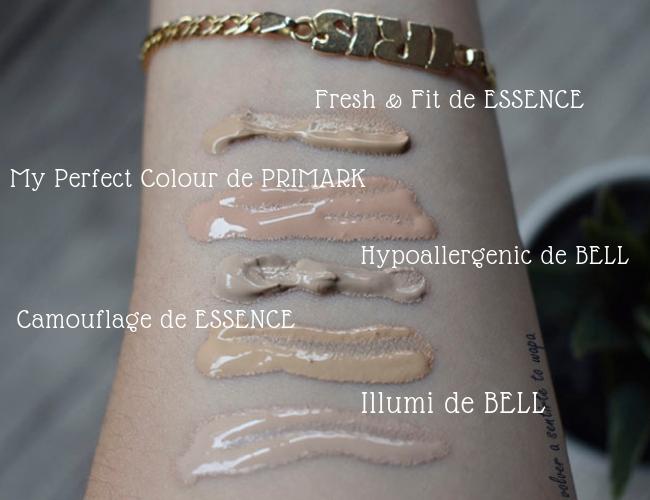 Bases de Maquillaje Favoritas Low Cost: Primark - Bell - Essence