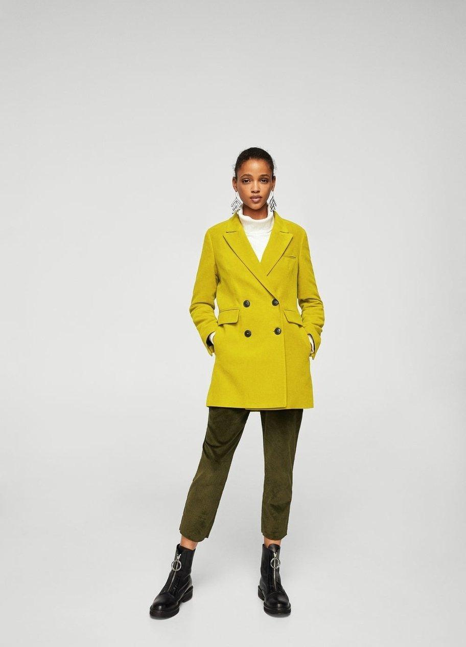 Zweireihiger Mantel von MANGO