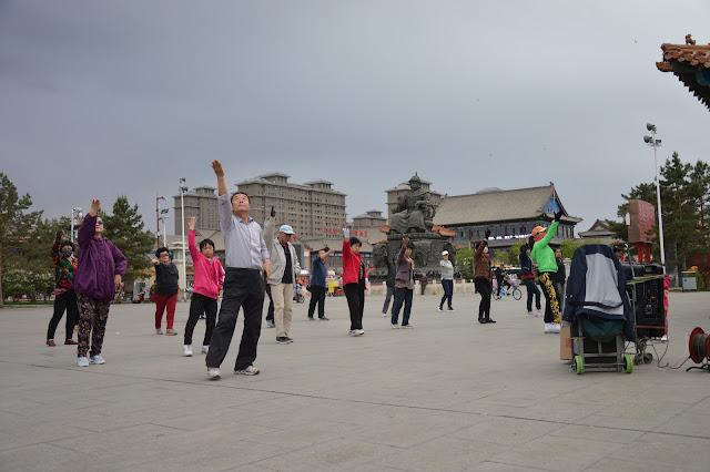 Séance de danse à Hohhot